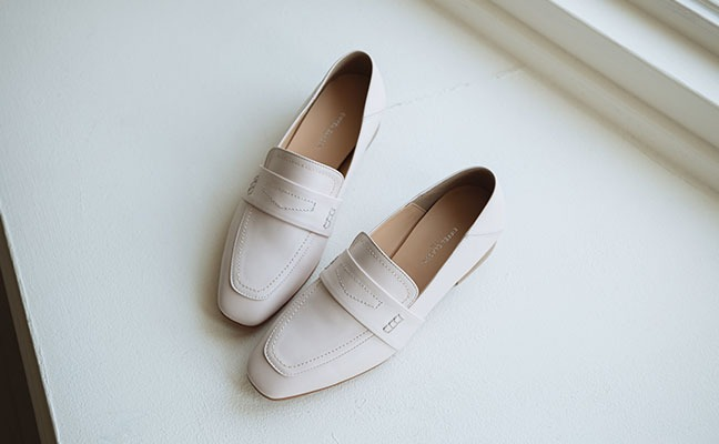 natural simple loafer_ pink beige
