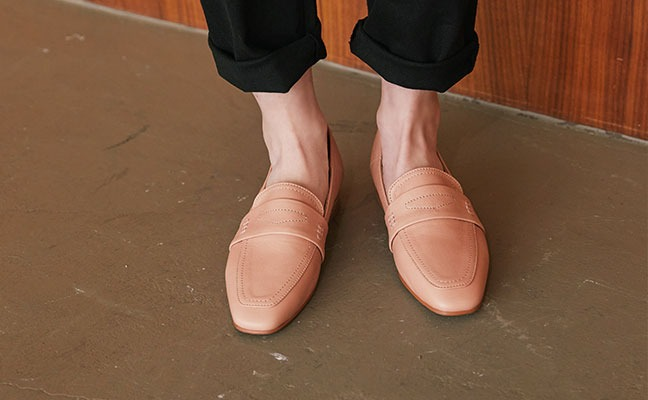 natural simple loafer_ pink