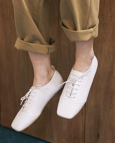 main lace up loafer_white