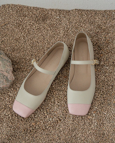 Candy Mary Jane Flats_ pink